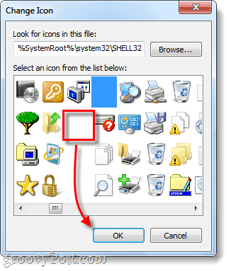 select transparent shortcut icon for windows 7
