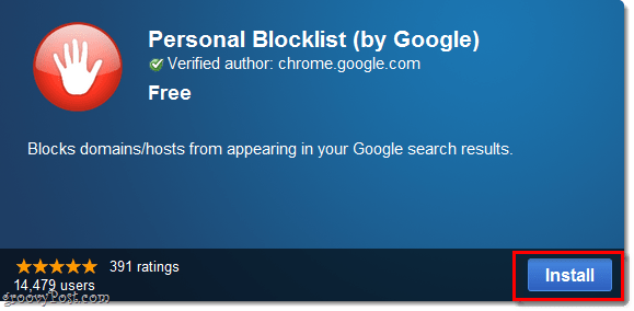 Personal blocklist chrome extension