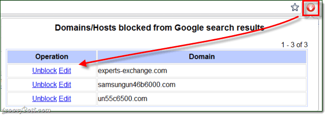 Image result for personal blocklist extension for google chrome