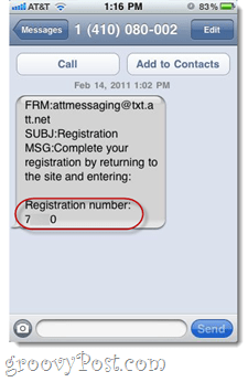 SMS spam from AT&T