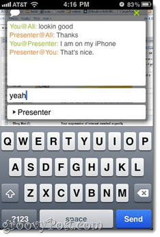iPhone iPad Join.me Web conference