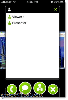 chat join.me screen sharing iphone