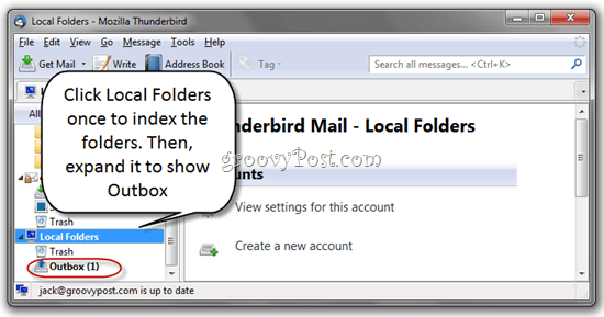 Delete Unsent Messages in Thunderbird Outbox