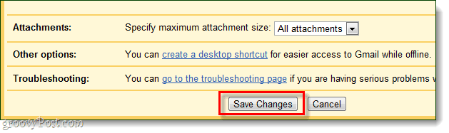 save gmail offline mode changes