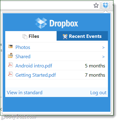 dropbox extension file browser
