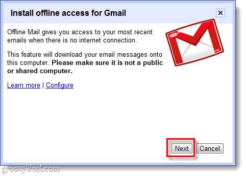 install offline access for gmail