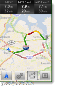 Android navigation update for traffic avoidance