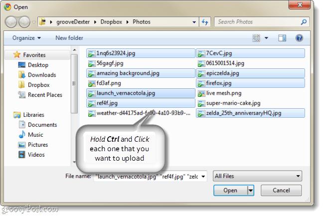 picasa multiple file upload