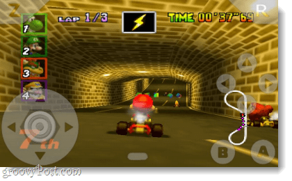 n64oid runs mario kart 64