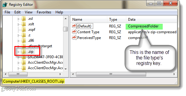 browse to hkey classes root location