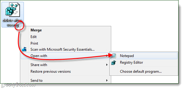 notepad delete after use