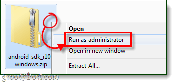 open run as administrator
