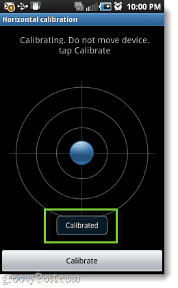 android calibration screen complete