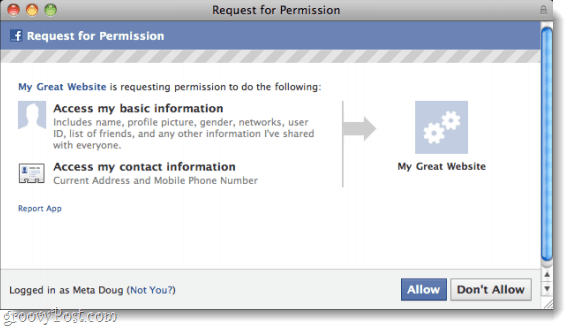 request permission to access contact information and phone number