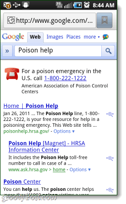 Google Mobile Adds Click-to-Call Emergency Number Results