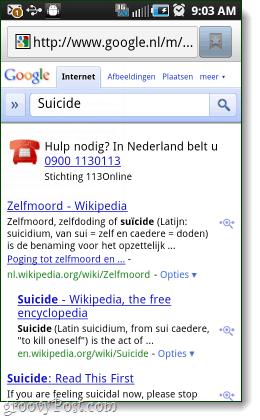 google suicide help line in netherlands