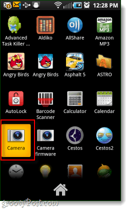 android camera app in app drawer