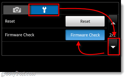 settings wrench page 2 firmware check