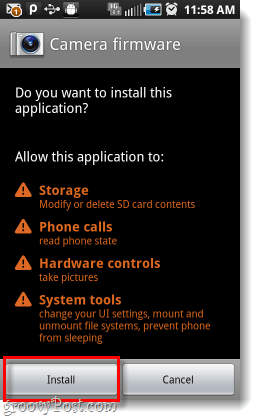 samsung android camera firmware permissions