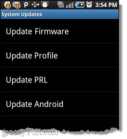 android system update types