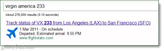 Google Flight Tracking