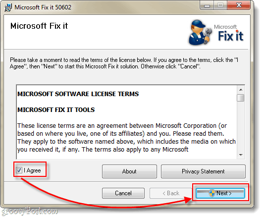 install microsoft fix it solution