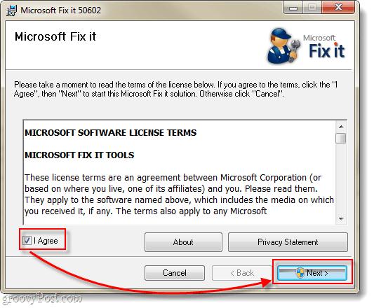 install microsoft fix it solution