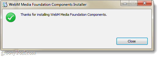ie9 webm plugin installation complete