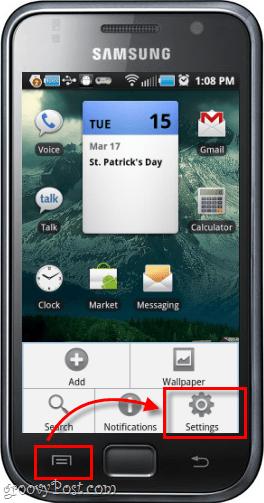 Phone external screen menu button settings samsung galaxy