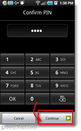 enter android pin or password