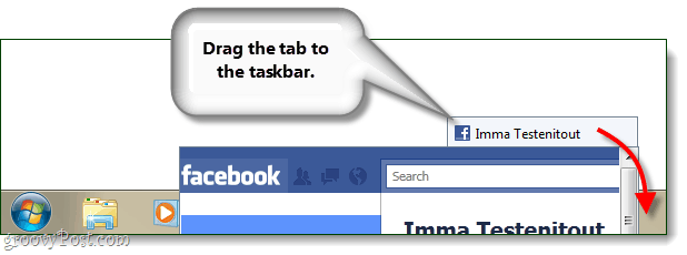 drag tab to taskbar pin ie9