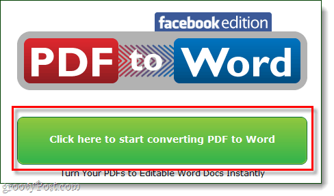 start converting pdf to word facebook edition