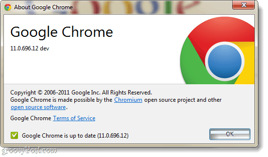 chrome logo in dev channel