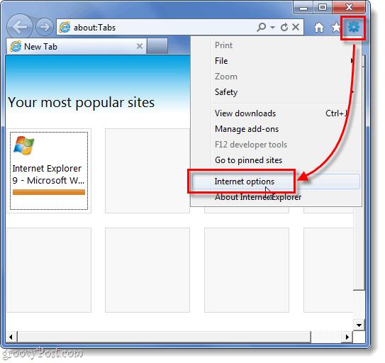 ie9 internet options