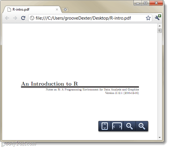 Google Chrome default pdf reader