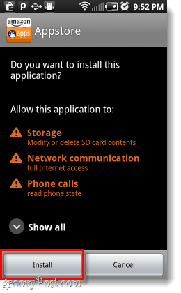 install amazon android appstore