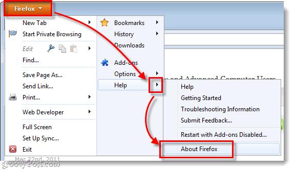 Firefox 4 help about firefox