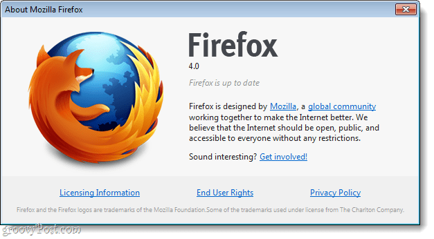 Firefox 4 is up to date