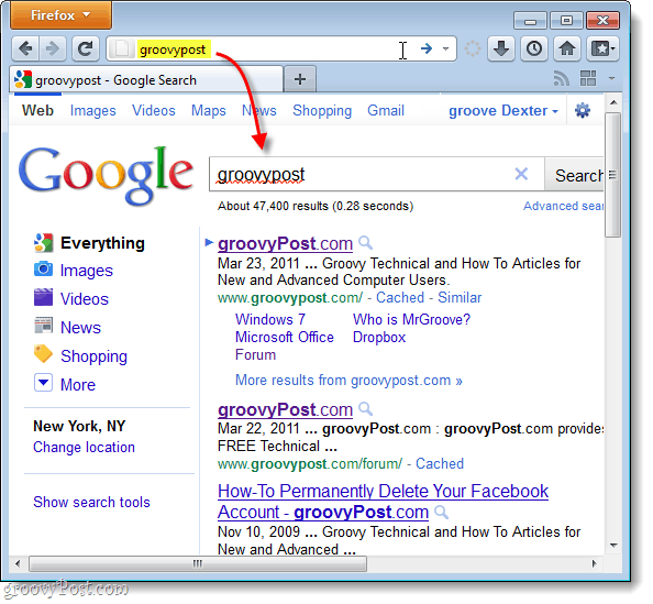 search Google by default in Firefox 4