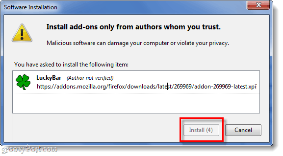 firefox 4 extension install prompt