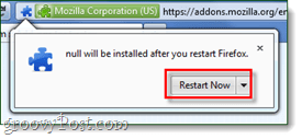 restart firefox add-on install