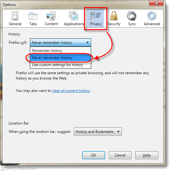 Firefox 4 never remembe history
