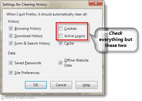 Firefox 4 cookies and active logins let alone
