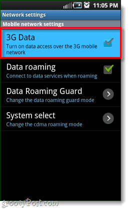 android 3g data disabled