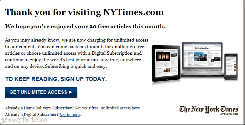 How to Bypass the New York Times Paywall and Read NYTimes