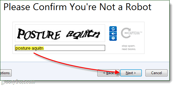 solve captcha to complete firefox sync account creation