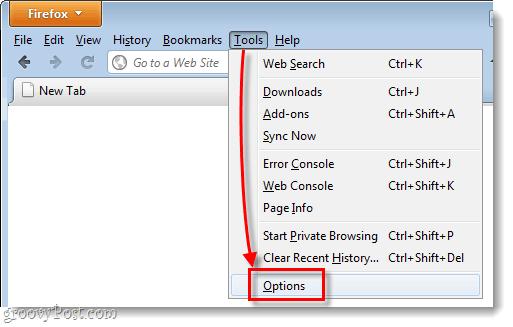 Firefox 4 legacy menu options