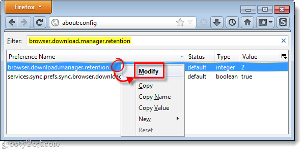 firefox 4 download manager config