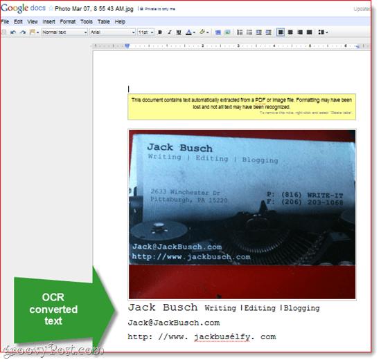 Digital Receipt Organization with Google Docs