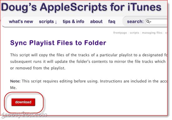 SugarSync AppleScript for iTunes